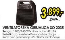 Ventilatorska Grejalica SO 2035