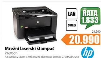 Mrežni laserski štampač P1606dn