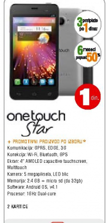 Mobilni telefon One Touch 6010D Star