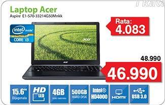 Laptop Aspire E1-570-33214G50Mnkk