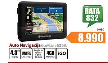 Auto navigacija GeoVision 4050EU