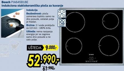 Indukciona staklokeramička ploča za kuvanje Pia645b18e