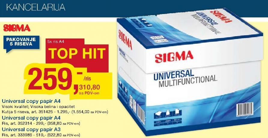 Universal Copy papir A4 kutija
