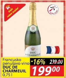 Penušavo vino Duc De Sharmeuil