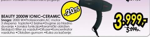 Fen za kosu Beauty 2000w Ionic-Ceramic