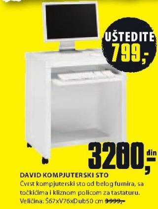 Kompjuter sto David