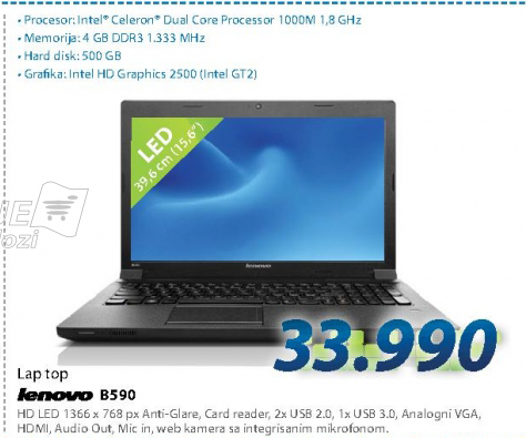 Laptop računar NOTEBOOK B590 59374022