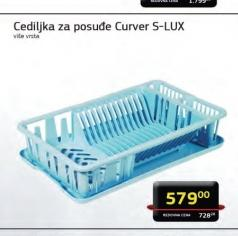 Cediljka za posudje S-LUX