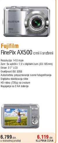 Fotoaparat FinePix AX500