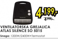 Ventilatorska Grejalica Atlas Silence SO 5015