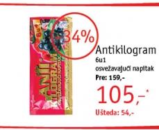 Osvežavajući napitak Antikilogram 6u1