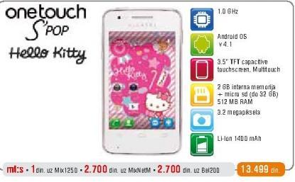 Mobilni telefon One Touch S Pop Hello Kitty