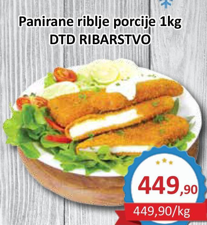 Panirani riblje porcije