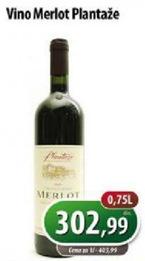 Crno vino Merlot