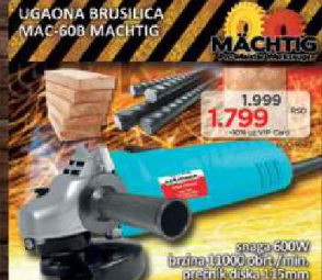 Ugaona brusilica MAC-608