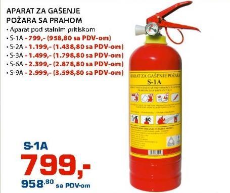 Aparat za gašenje požara s prahom S-6A