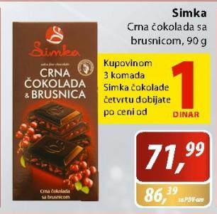 Crna čokolada brusnica