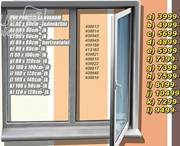 Prozor PVC sa kvakom 80x120 jk