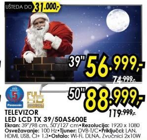 """Televizor LED39"""" Tx 39as600e"""