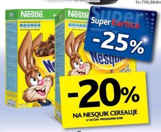 20% popusta na Nesqiuk cerealije