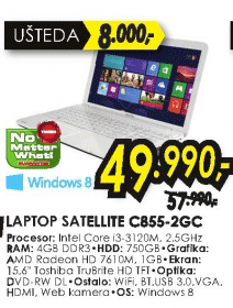 laptop Satellite C855-2GC