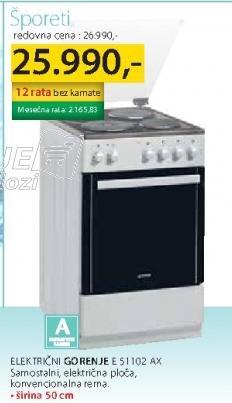 Šporet E51102AX