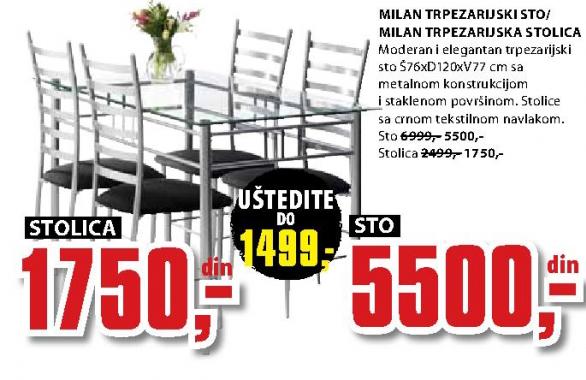 Trpezarijski sto Milan
