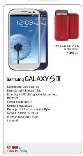 Telefon mobilni Galaxy S III