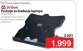 Postolje za hladjenje laptopa JT-NCP001