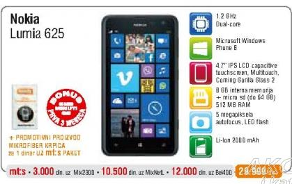 Mobilni telefon Lumia 625