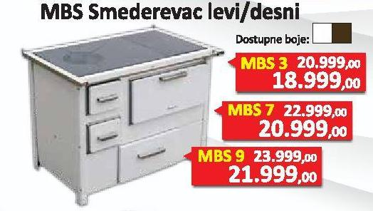 Šporet Smederevac Mbs7