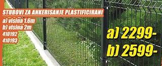 Stubovi za ankerisanje plastificirani 1.6m