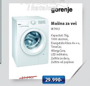 Mašina Za Veš W7403