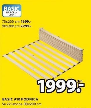Podnica Basic A10 80x200cm