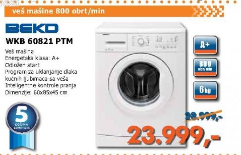 Wkb 60821 Ptm Veš Mašina