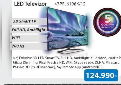 LED 3D 47PFL6198K/12