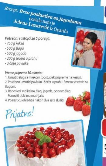 Recept - Brza poslastica sa jagodama