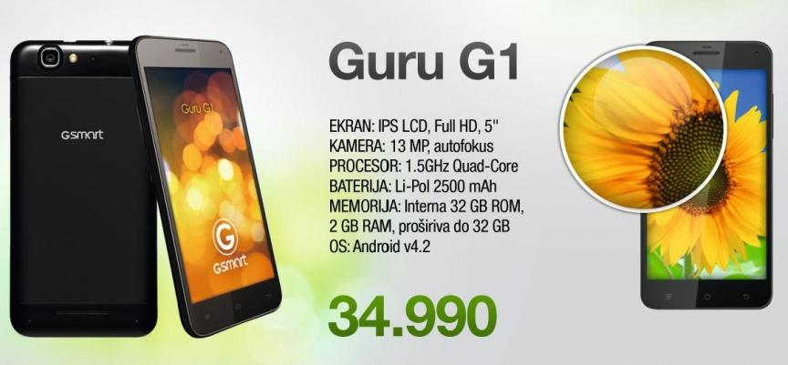Mobilni telefon Gsmart Guru G1