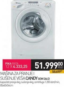 Mašina za pranje i sušenje veša GOW264D