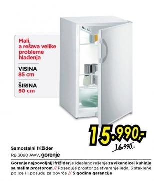 Samostalni frižider Rb 3090 Awv