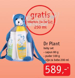 Baby set, sapun 80g, puder 100g, ulje za bebe 200ml