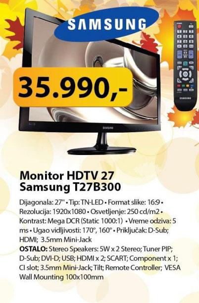 Monitor HDTV 27 Samsung T27B300