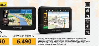 Navigator GeoVision 5050 Mapa
