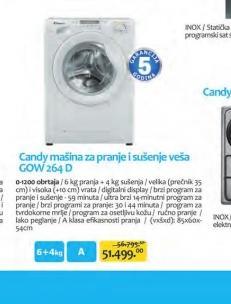 Mašina za pranje i sušenje veša GO W 264D