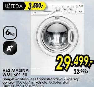 Mašina za pranje veša WML601EU