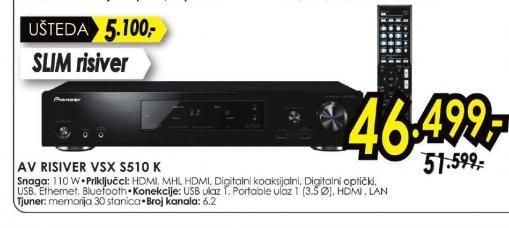 AV risiver VSX-S510-K