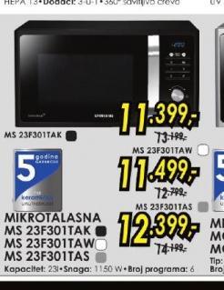 Mikrotalasna rerna MS 23F301TAW