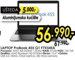 Laptop ProBook 455 G1 F7x54ea