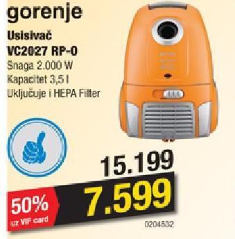 Usisivač VC 2027 RP-O