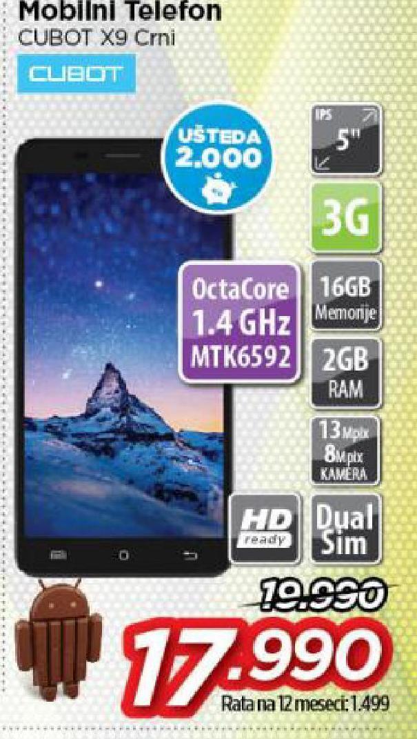 Mobilni telefon Cubot X9